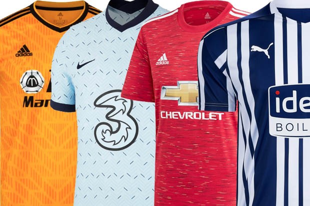 Premier League Kits 2020 21 Confirmed Home Away And Third Kits Radio Times