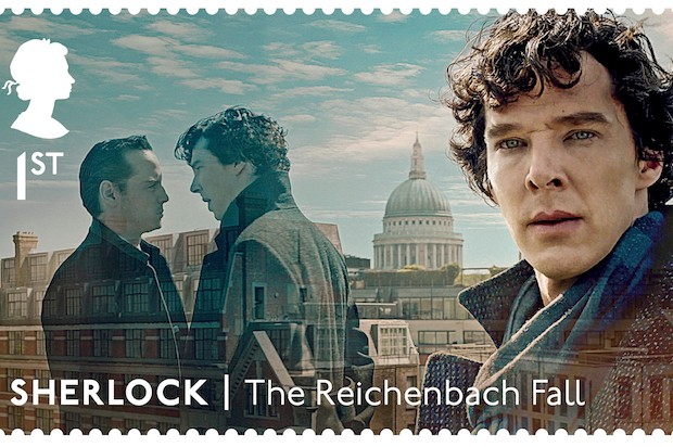 Benedict Cumberbatch Sherlock stamps