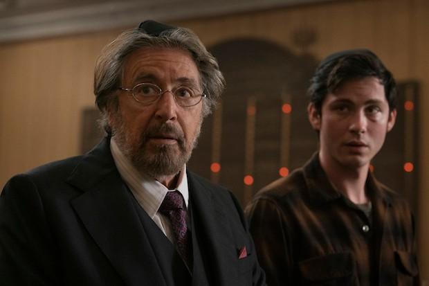 Al Pacino and Logan Lerman in Hunters