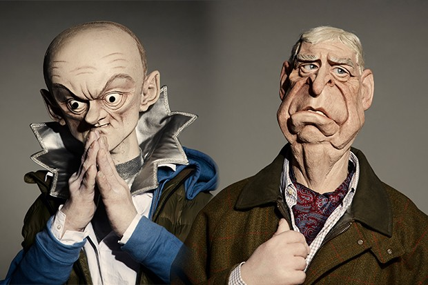 Puppets of Dominic Cummings and Prince Andrew Spitting Image