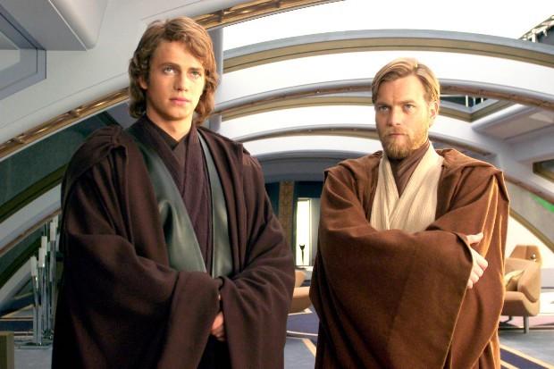 Obi-Wan Kenobi (Ewan Mcgregor) and Anakin Skywalker (Hayden Christensen)