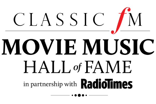 text that says classic fm movie music hall of fame in partnership with Radio Times