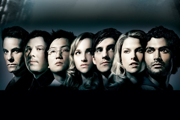 The full cast of Heroes on BBC Two and NBC