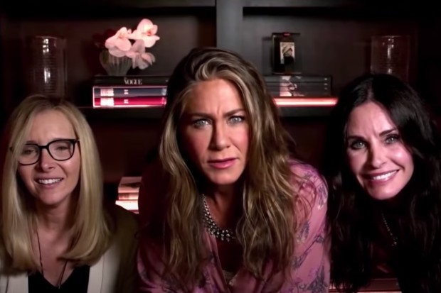 Friends stars Jennifer Aniston, Courteney Cox and Lisa Kudrow