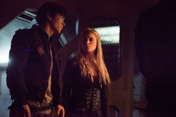 The 100 stars Eliza Taylor and Bob Morley