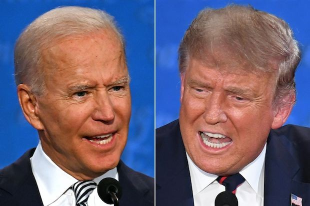 Democrat candidate Joe Biden and Republican president Donald Trump