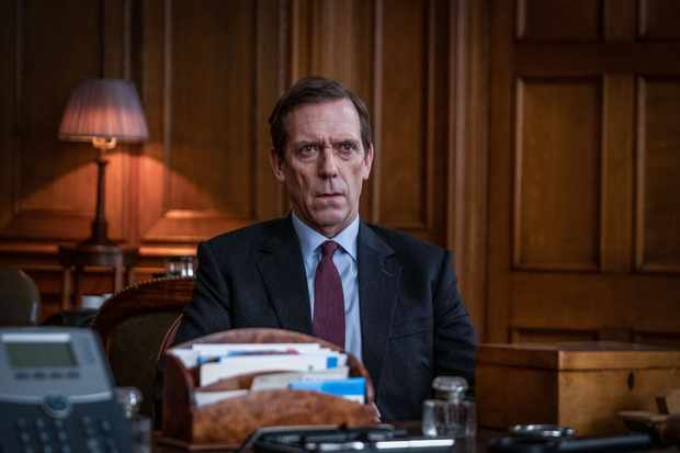 Hugh Laurie plays Peter Laurence MP in Roadkill