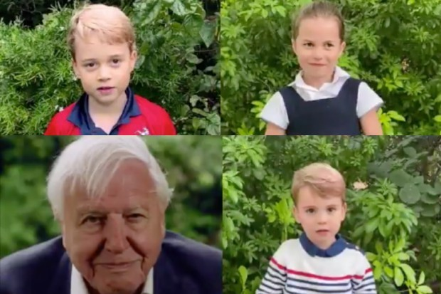 David Attenborough answers questions from Royal children