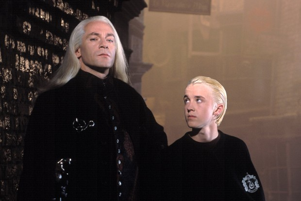 Tom Felton and Jason Isaacs reunite to recreate iconic Harry Potter line