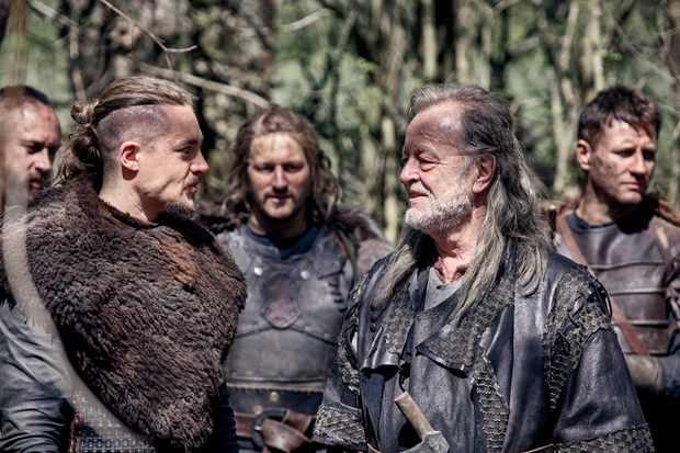 Bernard Cornwell films a cameo on The Last Kingdom with Alexander Dreymon
