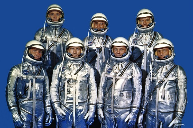 The Mercury Seven, depicted in The Right Stuff on Disney Plus