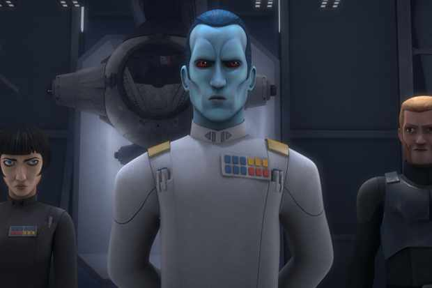 Lars Mikkelsen's Grand Admiral Thrawn in Star Wars Rebels (Disney)