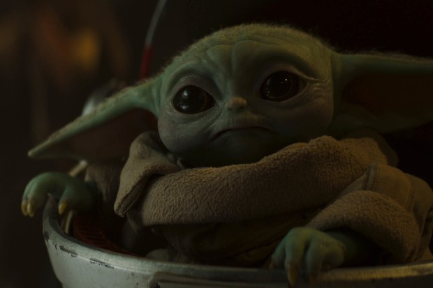 Baby Yoda in The Mandalorian on Disney Plus (Disney+)