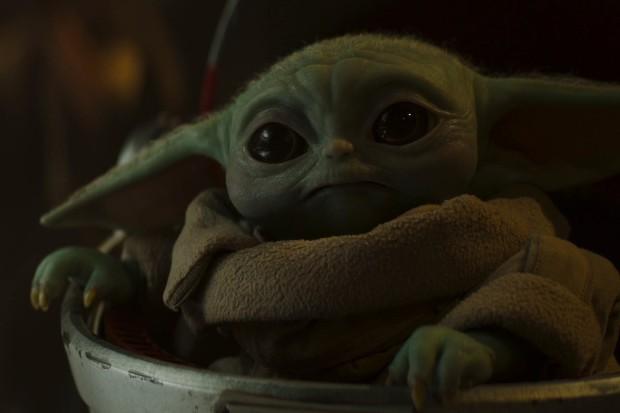 Baby Yoda in The Mandalorian on Disney Plus (Disney+)