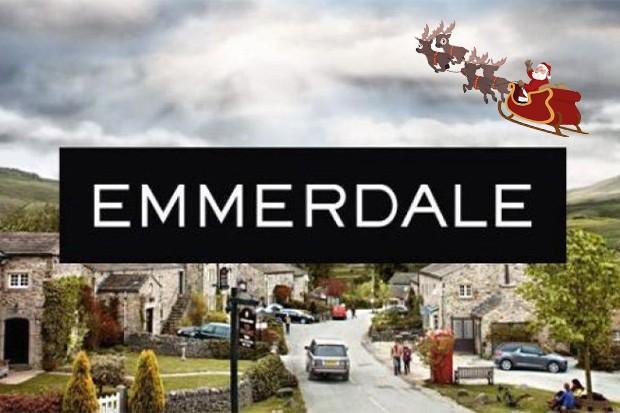 emmerdale logo chrstmas