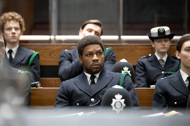 John Boyega plays Leroy Logan in Small Axe on BBC One