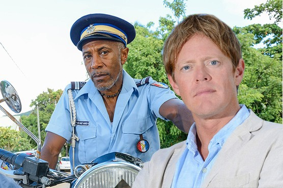 Death in Paradise - Officer Dwayne Myers and DI Humphrey Goodman