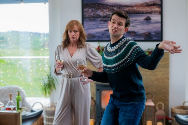 Picture Shows:  Cathy (DOON MACKICHAN), Gordon (KIERAN  HODGSON) - (C) BBC Studios - Photographer: Alan Peebles