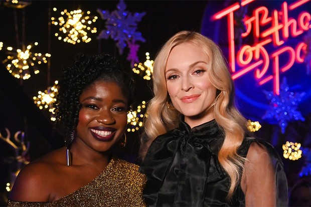 Top of the Pops presenters Clara Amfo and Fearne Cotton