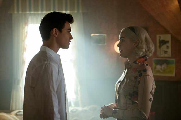 Sabrina and Nick Scratch in Chilling Adventures of Sabrina
