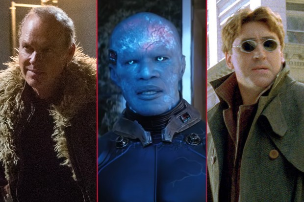 Michael Keaton, Jamie Foxx and Alfred Molina as Vulture, Electro and Doctor Octopus in Marvel's Spider-Man franchise