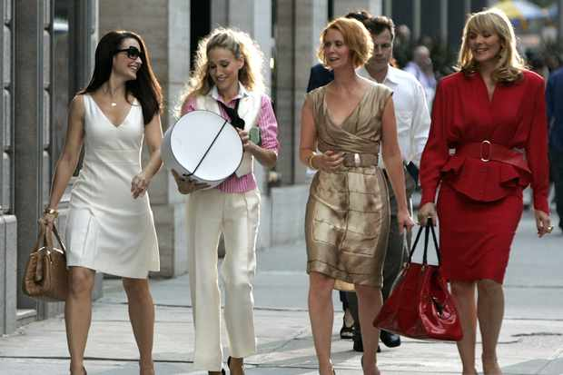 Samantha and the group in Sex and the City