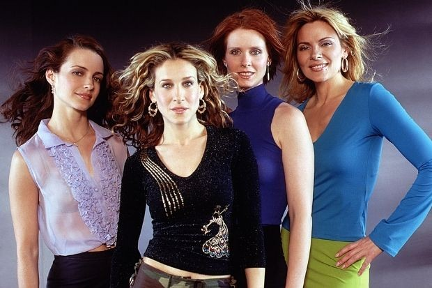 Sex and the City stars with Kim Cattrall as Samantha