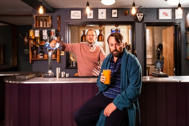 David Mitchell and Robert Webb in Channel 4's Back series 2