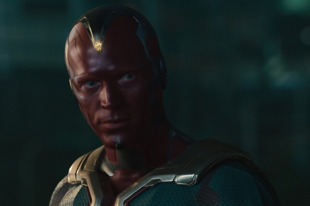 Paul Bettany plays Vision in the Marvel Cinematic Universe