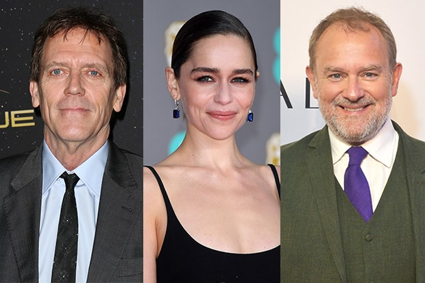 Hugh Laurie, Emilia Clarke, Hugh Bonneville