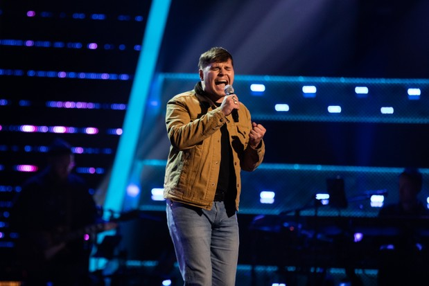 This image and the information contained herein is strictly embargoed until 00.01 Tuesday 19th January 2021 From ITV Studios The Voice UK: SR5: Ep4 on ITV Pictured: Jake OÕNeill performs.