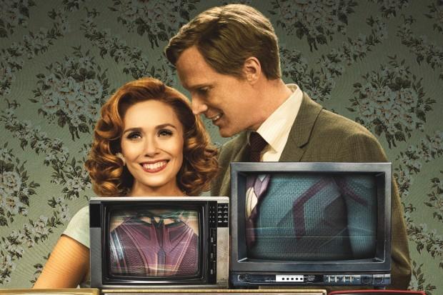 WandaVision promotional art (Elizabeth Olsen and Paul Bettany)