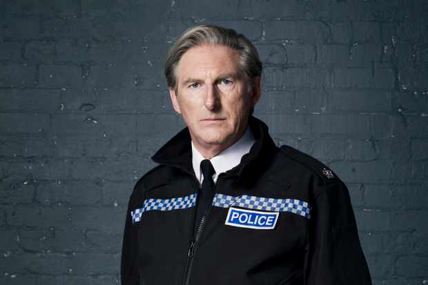 Adrian Dunbar plays Superintendent Ted Hastings in Line of Duty