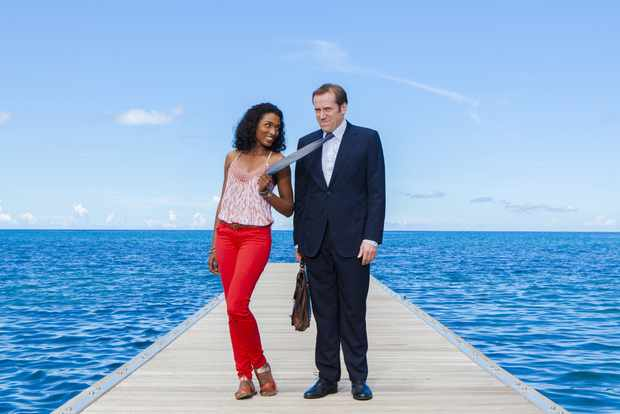 DS Camille Bordey and DI Richard Poole in Death in Paradise