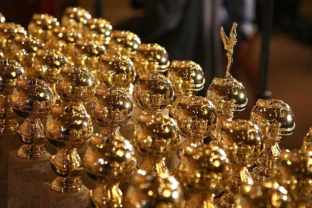 Golden Globes on display