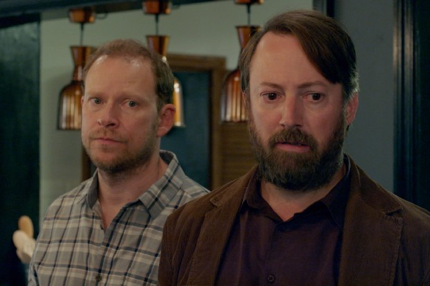 David Mitchell and Robert Webb in Back series 2