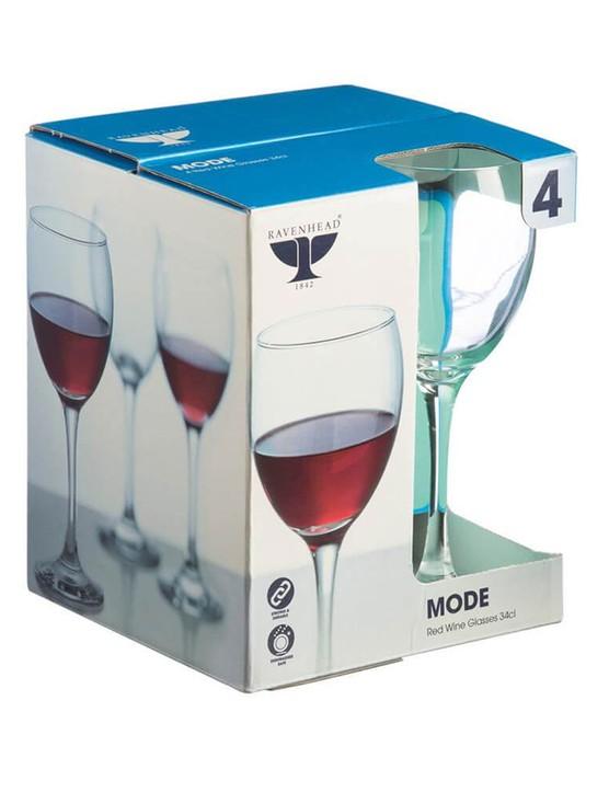 Ravenhead MODE Red Wine Set of 4 Glasses, Bundle of 2