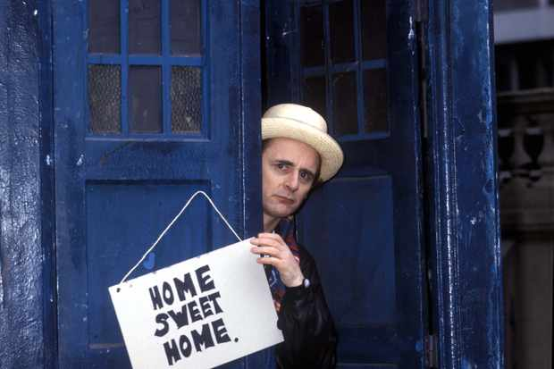 Sylvester McCoy promoting Doctor Who