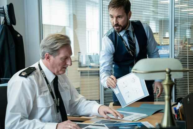 Adrian Dunbar and Martin Compston in Line of Duty season 6