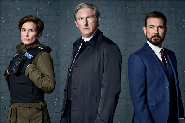 Line of Duty character portrait collage
