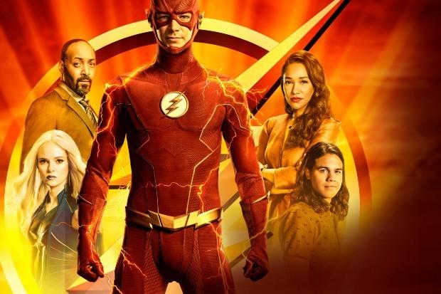 The Flash season 7 key art (featuring Grant Gustin)