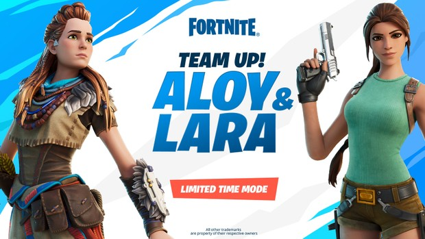 Lara Croft and Aloy unite for a Fortnite crossover.