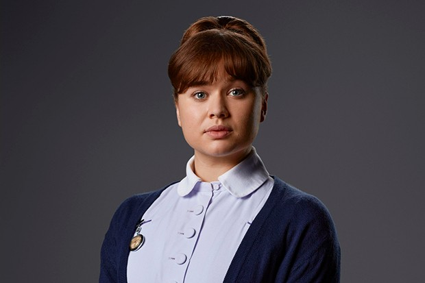 Megan Cusack plays pupil midwife Nancy Corrigan in Call the Midwife