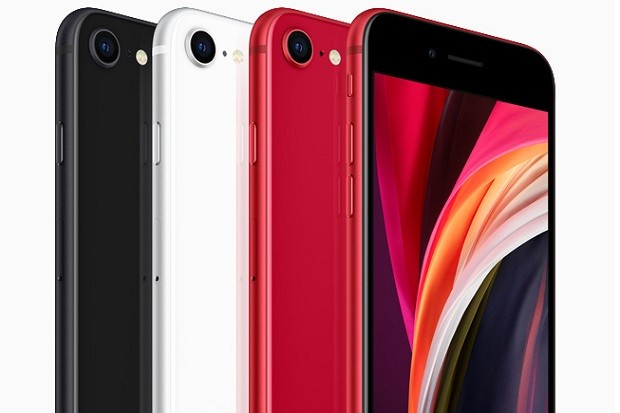 iPhone SE (2020) comes in three colours.