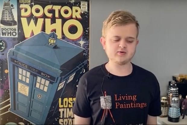 Doctor Who fan Louis Moorhouse