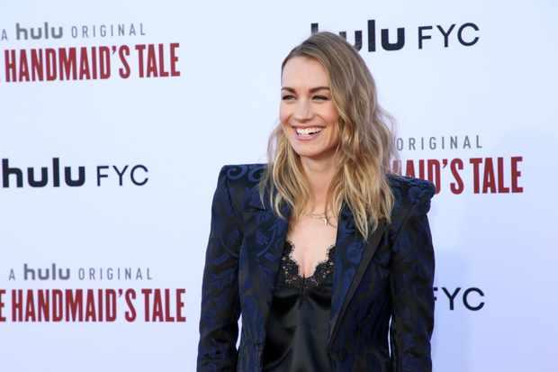 "WESTWOOD, CALIFORNIA - AUGUST 06: Yvonne Strahovski attends Hulu's ""The Handmaid's Tale"" Season 3 Finale at Regency Village Theatre on August 06, 2019 in Westwood, California. (Photo by Phillip Faraone/WireImage,)"