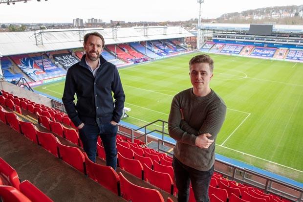 Gareth Southgate and Chris MD