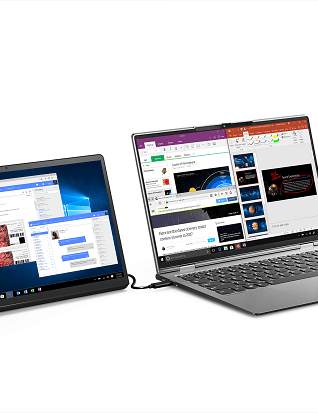 Lenovo Yoga Tab 13 connected with a PC