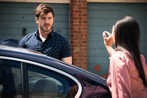 Gray had a close call in EastEnders, but will the truth about Tina come out?