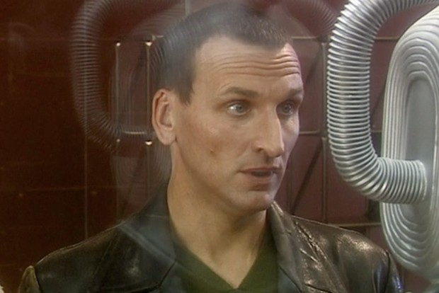 Doctor Who: the Ninth Doctor meets a Cyberman